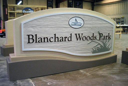 Custom Sign Model City Park Entrance Monument With
