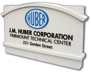business entrance stucco sign monument